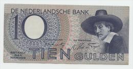 Netherlands 10 Gulden 1943 XF P 59 - 10 Gulden
