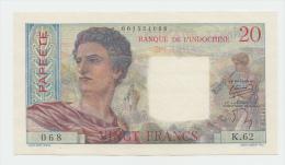 Tahiti 20 Francs 1954 - 1958 AUNC P 21b  21 B - Indochine