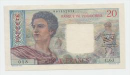 Tahiti 20 Francs 1954 - 1958 XF++ P 21b  21 B - Indochine