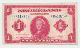 Netherlands 1 Gulden 1943 XF+ P 64 - [2] 1815-… : Kingdom Of The Netherlands