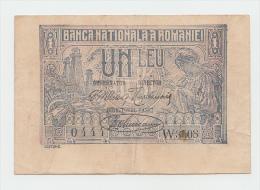 ROMANIA 1 Leu 1920 VF+ P 26 - Rumania