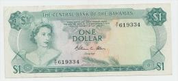Bahamas 1 Dollar 1974 VF+ Crisp Banknote P 35b 35 B - Bahamas