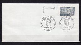 """1970 : Enveloppe 1er Jour SIGNEE Combet : """" MAURICE DE BROGLIE """" N° YT 1624 + Prix Dégressif ! - Sonstige"""