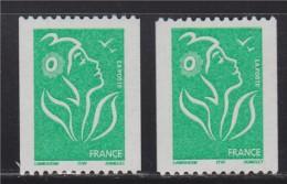= Marianne Lamouche Roulette TVP Vert  3742 Numéro Noir 059 à Droite Et 393 à Gauche, Neuf. - Rollen