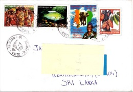 Z] Entier Postal Stationery Cote D´Ivoire Ivory Coast Poisson Fish Elephant President Cacao Cocoa - Côte D'Ivoire (1960-...)