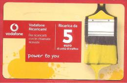 ITALIA - VODAFONE - RICARICARD - RICARICA - RICARICAMI POWER TO YOU - SCAD. DICEMBRE  2035 - 5 EURO - Italia