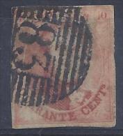 N°8 GESTEMPELD P83 MONS ZM/TB/VF MET 4 MARGES COB € 125.00 SUPERBE - 1851-1857 Medallions (6/8)