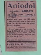ANIODOL -Antiseptique - Buvard 1901 Offert Par L´Almanach Hachette - Produits Pharmaceutiques