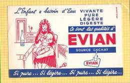 BUVARD : L'Enfant a besoin d'eau  EVIAN