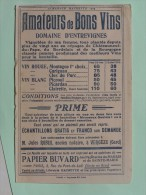 DOMAINE D´ ENTREVIGNES - Buvard 1909 Offert Par L´Almanach Hachette - Alimentaire