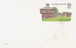 USA  -  Cartolina Intero Postale - Stationery  -   Fort  Recovery Ohio - American Indians