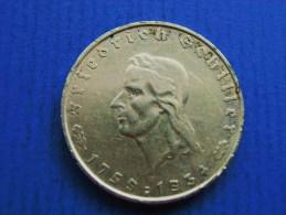 2 REICHSMARK 1934 F Zum 175 Geburtstag Von Friedrich Von Schiller - 2 Reichsmark