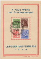 GERMANY  DDR  -  LEIPZIGER  MESSE  1948 - Storia Postale