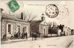 SAINT AUBIN DES BLAYE - Le Bureau De Poste Et Le Temple  (Attelage)  (60853) - Other Municipalities