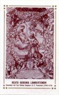 Santino Nuovo BEATO GEREMIA LAMBERTENGHI - Ristampa Tipografica Da Santino Antico - PERFETTO F42 - Religione & Esoterismo