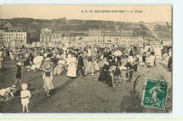 Boulogne Sur Mer : La Plage. Beau Plan. 2 Scans. Edition E D 76 - Boulogne Sur Mer