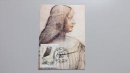 Frankreich 2581 Maximum Card, ESST Puteaux, Isabella D´Este; Zeichnung Von Leonardo Da Vinci (1452-1519), Ital. Maler - Cartes-Maximum