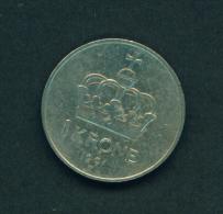 NORWAY - 1991  1k  Circ. - Norwegen