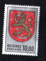 FINLANDE Oblitération Ronde Used Stamp Blason Armoirie Suomi 10,00 - Finland