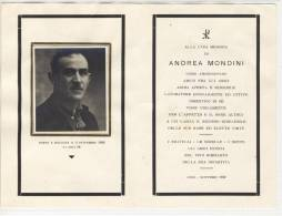 Andachtsbild - Sterbebild - Alla Cara Memoria - Andrea MONDINI - Images Religieuses