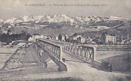 Cp , 38 , GRENOBLE , Le Pont Du Drac Et La Chaîne Des Alpes - Grenoble