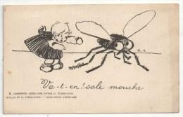 Va-t-en ! Sale Mouche - Commission Américaine Contre La Tuberculose - Croix-Rouge - 1900-1949