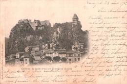 42 CHATEAU DE SAINT PAUL EN CORNILLON CARTE PRECURSEUR CIRCULEE 1902 - Francia