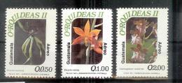 Guatemala - Orchidées- Yv A 843 - 845 ** - Guatemala