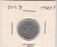 50 Centimes Nickel Albert I 1922  FR - 06. 50 Centimes