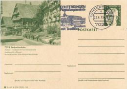 GERMANY  -    Intero Postale  -  SASBACHWALDEN  -   ECHTERDINGEN - Bildpostkarten - Gebraucht