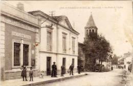 SAINT PIERRE D' AURILLAC - La Poste Et L' Eglise    (60880) - Other Municipalities