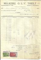 O. L. V. THIELT  MELKERIJ   15.10.1928 - Alimentaire
