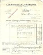 BORDEAUX  LES GRANDS CHAIS St MICHEL      12.07.1949 - Alimentaire