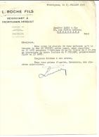FRONTIGNAN  L. ROCHE FILS  Negociant A Frontignan Herault       13.07.1949 - Alimentaire