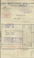SAINT OUEN  LILLE  Societe Anonyme Francaise MARTINI & ROSSI        8.07.1949 - Alimentaire