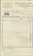 LILLE  DEFRENNES Freres  Articles De Caves  30.06.1949 - Alimentaire