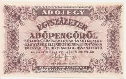 HONGRIE 100000 ADOPENGO 1946 AUNC P 144e - Hungary