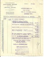 LIBOURNE  Etablissements  JEAN PIERRE MOUEIX          31.03.1950 - Alimentaire