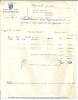 COGNAC  MARTELL & C°  Caisses Cognac Expediees A LILLE     5.05.1950 - Alimentaire