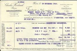 REIMS  CHARLES HEIDSIECK   Fournissur Brevete  19.11.1948 - Alimentaire