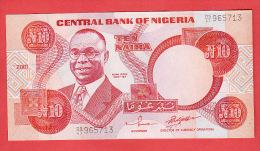 NIGERIA 10  NAIRA  2001 NEUF   REF  171010 - Nigeria