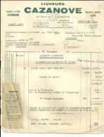 BORDEAUX  Liqueurs CAZANOVE  Liqueur Du Père KERMANN  23.11.1948 - Alimentaire