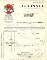 PARIS  DUBONNET   Quinquina Dubonnet  Aperitif    18.11.1948 - Alimentaire