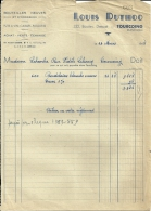 TOURCOING  LOUIS DUTHOO  Bouteilles Neuves Et Occasion   16.03.1948 - Alimentaire