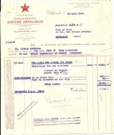 VILLEFRANCHE  Etablissements ANTOINE DEPAGNEUX    22.03.1948 - Alimentaire
