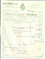 STRASBOURG  CAVES STOESSLE  Pere & Fils  Vins D'ALSACE   4.12.1948 - Alimentaire