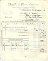 "WAMBRECIES  DISTILLERIE DE GENIEVRE CLAEYSSENS   Pierre Et Etienne  "" Eleveur""    2.12.1948 - Alimentaire"