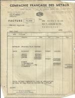 PARIS  COMPAGNIE FRANCAISE DES METAUX   12.03.1948 - Alimentaire