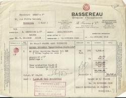 BORDEAUX BASSEREAU  Methode Champenoise   A. BASSEREAU & Cie      14.10.1949 - Alimentaire