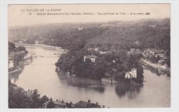 (RECTO / VERSO) SAINT RAMBERT L' ILE BARBE EN 1924 - N° 22 - VUE GENERALE DE L' ILE - PETITES DECHIRURES - France